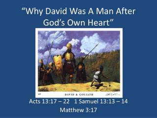 """Why David Was A Man After God's Own Heart"""