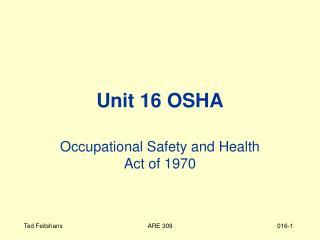 Unit 16 OSHA