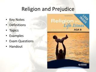 Religion and  Prejudice