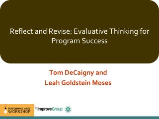 Reflect and Revise: Evaluative Thinking for Program Success