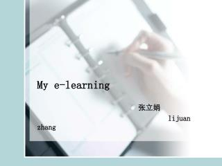 My e-learning