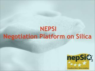 NEPSI Negotiation Platform on Silica