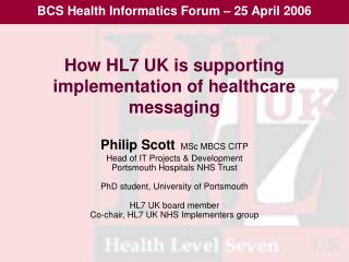 How HL7 UK is supporting implementation of healthcare messaging