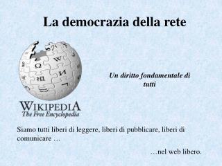 La democrazia della rete