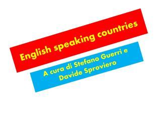 English  s peaking countries
