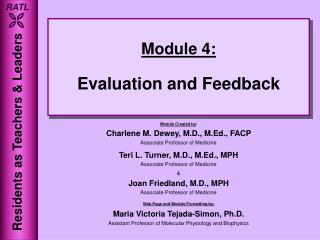 Module 4: Evaluation and Feedback