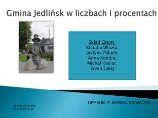 Gmina Jedlińsk w liczbach i procentach