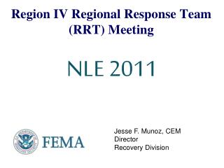 Region IV Regional Response Team RRT Meeting