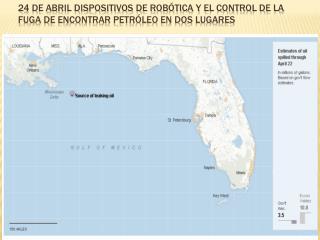 24 de abril dispositivos de robótica y el control de la fuga de encontrar petróleo en dos lugares