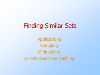 Finding Similar Sets