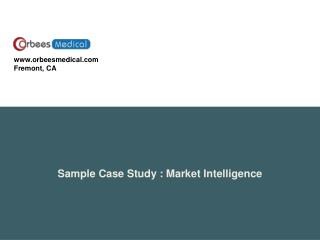 Sample Case Study  :  Market Intelligence