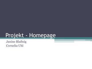 Projekt - Homepage