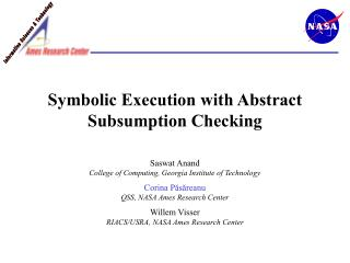 Symbolic Execution with Abstract Subsumption Checking