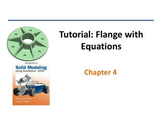 Tutorial: Flange with Equations