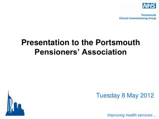 Presentation to the Portsmouth Pensioners' Association