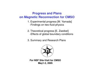 Progress and Plans on Magnetic Reconnection for CMSO