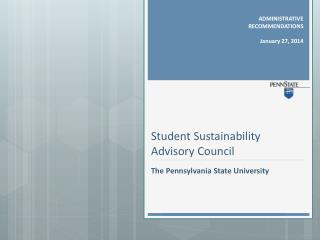 Student Sustainability Advisory Council