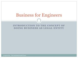 Business for Engineers