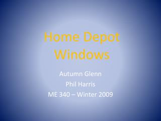 Home Depot Windows