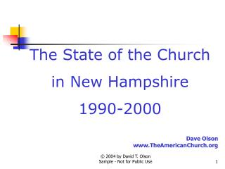 The State of the Church in New Hampshire 1990-2000