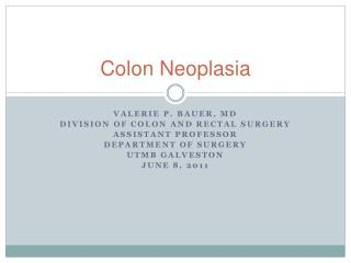 Colon Neoplasia