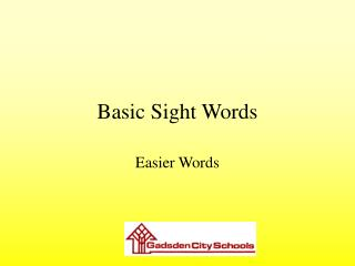 Basic Sight Words