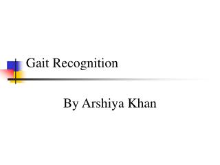 Gait Recognition
