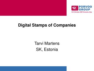Digital Stamps of Companies