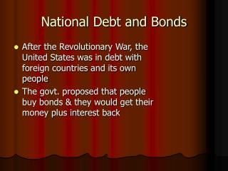 National Debt and Bonds