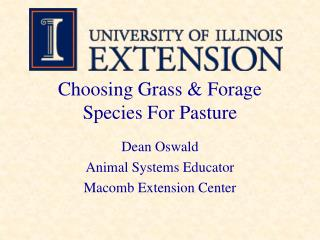 Choosing Grass & Forage Species For Pasture