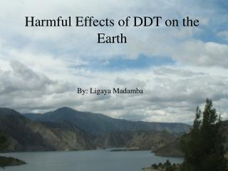 Harmful Effects of DDT on the Earth