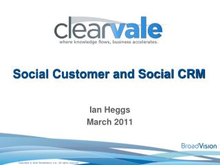 Social Customer and Social CRM