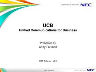 UCB Unified Communications for Business