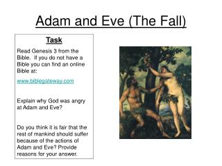 Adam and Eve The Fall