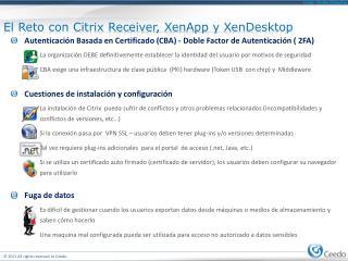 El  Reto  con Citrix Receiver,  XenApp  y  XenDesktop