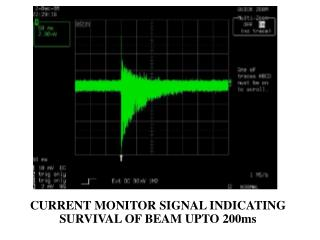 CURRENT MONITOR SIGNAL INDICATING SURVIVAL OF BEAM UPTO 200ms