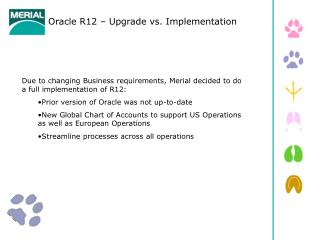 Oracle R12 – Upgrade vs. Implementation