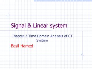 Signal & Linear system