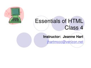 Essentials of HTML Class 4
