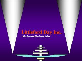 Littleford Day Inc. Where Processing Ideas become Reality.
