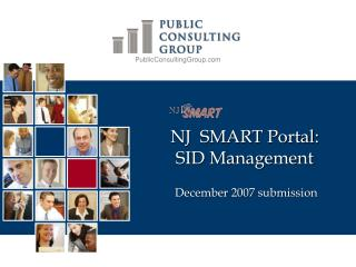 NJ  SMART Portal: SID Management  December 2007 submission