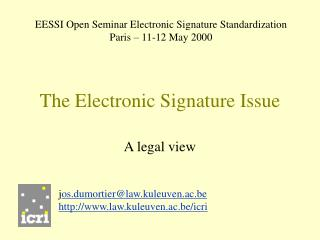 The Electronic Signature Issue