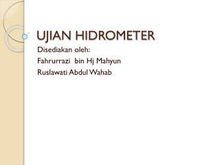 UJIAN HIDROMETER