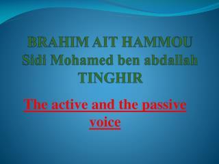 BRAHIM AIT HAMMOU Sidi Mohamed ben  abdallah TINGHIR
