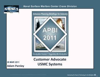 Customer Advocate USMC Systems