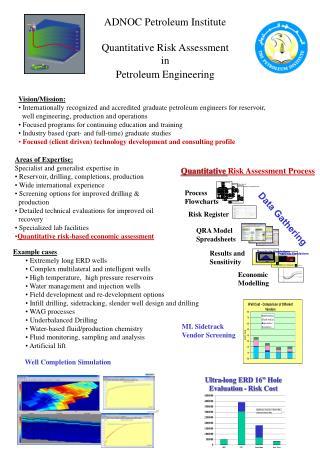 ADNOC Petroleum Institute  Quantitative Risk Assessment  in  Petroleum Engineering