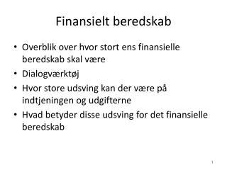 Finansielt beredskab