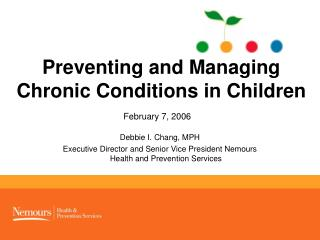 Preventing and Managing Chronic Conditions in Children