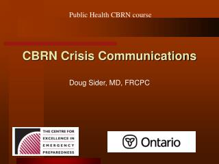 CBRN Crisis Communications