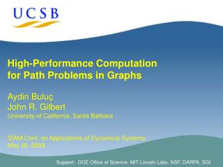 High-Performance Computation  for Path Problems in Graphs